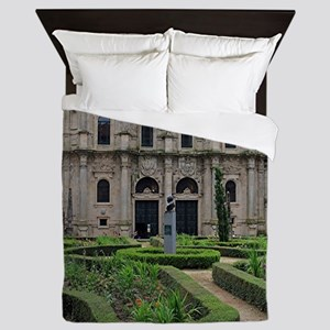 Gardens and cathedral, Santiago,Spain Queen Duvet