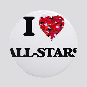 I Love All-Stars Ornament (Round)