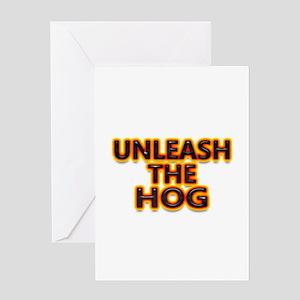 Motorcycle-Unleash Hog Greeting Card