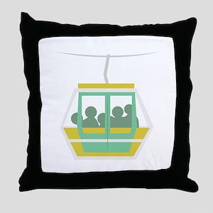 Chair Lift Throw Pillow