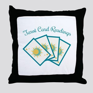 Tarot Card Reading Throw Pillow
