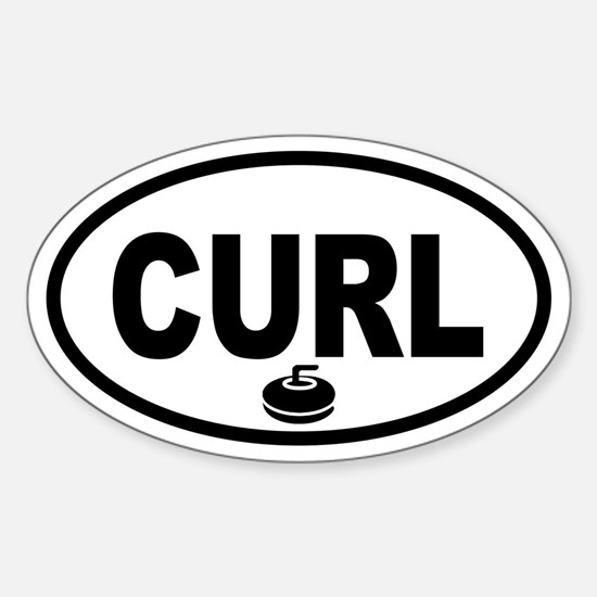 Curling Stone Oval Decal