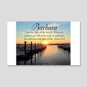 JOHN 8:12 FAITH 20x12 Wall Decal