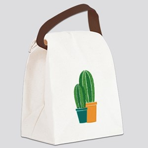 Potted Cactus Canvas Lunch Bag