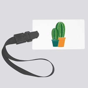 Potted Cactus Luggage Tag