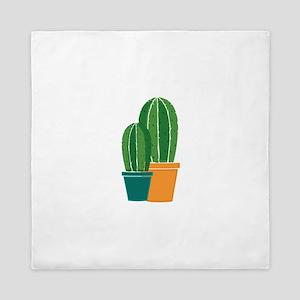 Potted Cactus Queen Duvet
