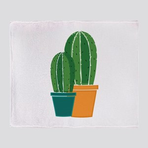 Potted Cactus Throw Blanket