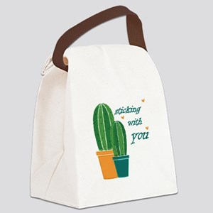 Sticking Wtih You Canvas Lunch Bag