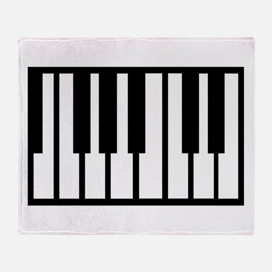 Midi Keyboard Musical Instrument Throw Blanket