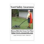 Yard Safety Awareness Mini Poster Print