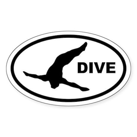 Diver Oval Sticker