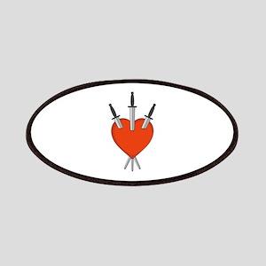 Three Of Swords Tarot Card Heart Symbol Patch