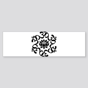 Buddhist Sacred Indian Lotus Flower Bumper Sticker