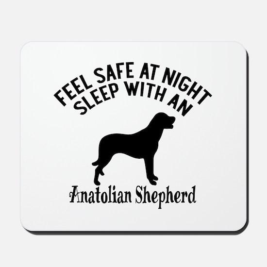 Sleep With Anatolian Shepherd Dog Design Mousepad