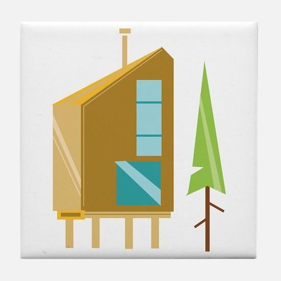 Cabin Tile Coaster