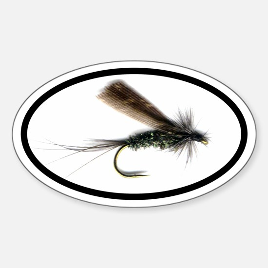 Fishing Fly Oval Decal