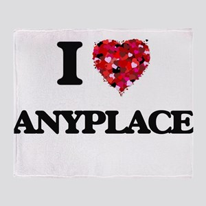 I Love Anyplace Throw Blanket
