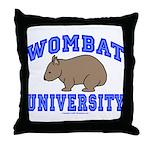 Wombat University II Throw Pillow