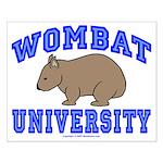 Wombat University II Small Poster