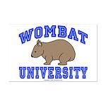 Wombat University II Mini Poster Print