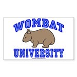 Wombat University II Rectangle Sticker