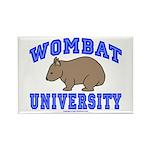 Wombat University II Rectangle Magnet (100 pack)