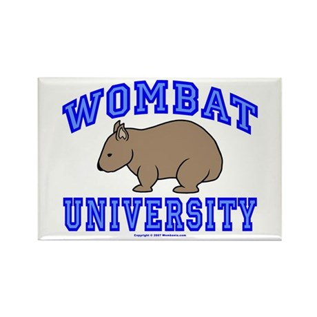 Wombat University II Rectangle Magnet (10 pack)