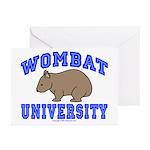 Wombat University II Greeting Cards (Pk of 20)