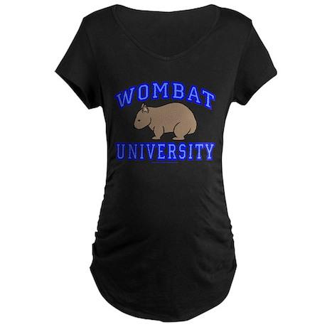Wombat University II Maternity Dark T-Shirt