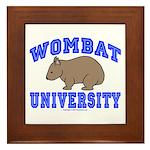 Wombat University II Framed Tile