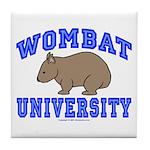 Wombat University II Tile Coaster