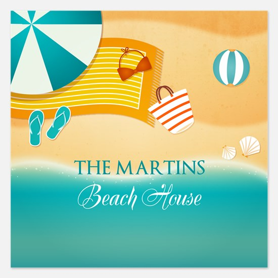 Personalized Summer Beach Invitations