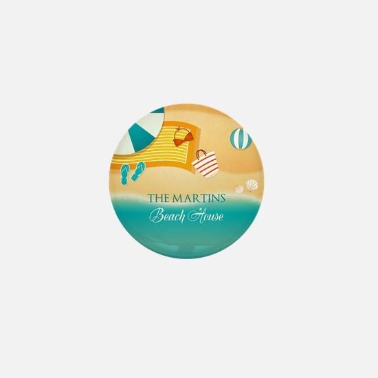 Personalized Summer Beach Mini Button