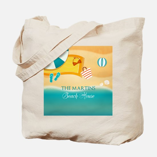 Personalized Summer Beach Tote Bag