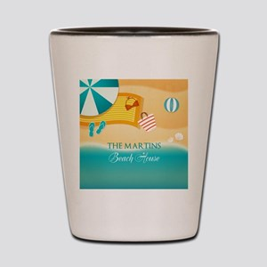 Personalized Summer Beach Shot Glass