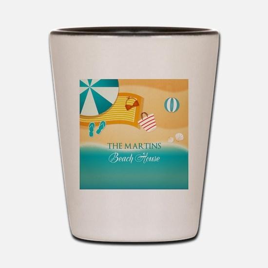 Personalized Summer Beach Shot Glass