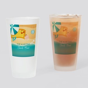 Personalized Summer Beach Drinking Glass