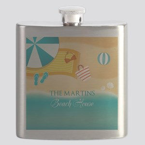 Personalized Summer Beach Flask