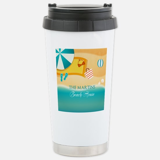 Personalized Summer Bea Stainless Steel Travel Mug