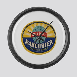 German Rauchbier Large Wall Clock