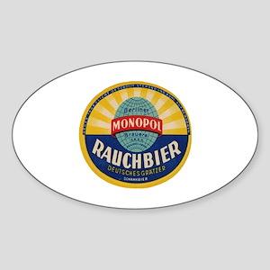German Rauchbier Sticker (Oval)