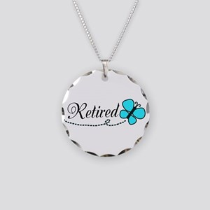 Retired Teal Black Butterfly Necklace