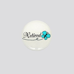 Retired Teal Black Butterfly Mini Button