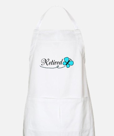 Retired Teal Black Butterfly Apron