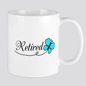 Retired Teal Black Butterfly Mugs