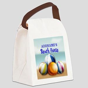 Personalized Beach Balls Beach Ho Canvas Lunch Bag