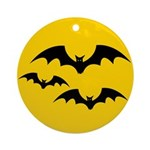 Bats Round Ornament