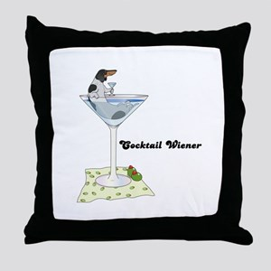 Piebald Cocktail Wiener Throw Pillow