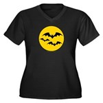 Bats Women's Plus Size V-Neck Dark T-Shirt