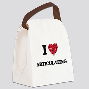 I Love Articulating Canvas Lunch Bag